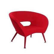 J&M Furniture Tiffany Accent Chair; Red