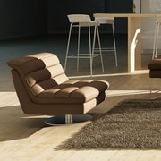 J&M Furniture Astro Swivel Side Chair; Chocolate