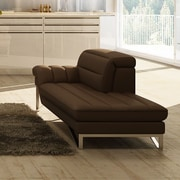 J&M Furniture Astro Lounger Chair; Chocolate