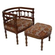 Carolina Accents Savannah Fabric Arm Chair and Ottoman