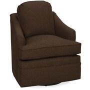 Tory Furniture Quinn Swivel Glider Arm Chair; Chocolate