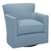 Tory Furniture Rowan Swivel Arm Chair; Sky