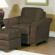 Serta Upholstery Chair; Padded Walnut
