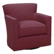 Tory Furniture Rowan Swivel Arm Chair; Merlot