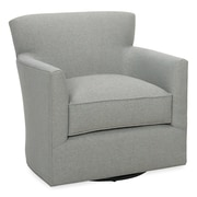 Tory Furniture Rowan Swivel Arm Chair; Pewter