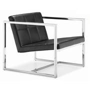 Whiteline Imports Lisa Arm Chair; Black
