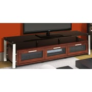 Plateau Decor Series TV Stand; Walnut and Black