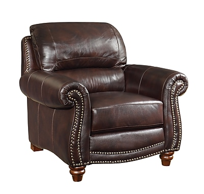 Wildon Home Leather Arm Chair WYF078277467110