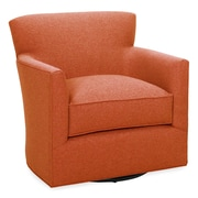 Tory Furniture Rowan Swivel Arm Chair; Tangelo