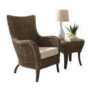 Panama Jack Sunroom Sanibel 2 Piece Lounge Chair Set; Canvas Natural