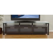 Plateau Decor Series TV Stand; Espresso and Black