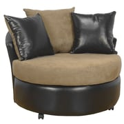 Piedmont Furniture Ella Barrel Side Chair; Bulldozer Mocha / San Marino Chocolate