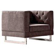 DG Casa Palomar Club Chair; Dark Raisin Gray