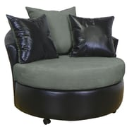 Piedmont Furniture Ella Barrel Side Chair; Bulldozer Graphite / San Marino Black