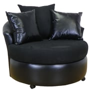 Piedmont Furniture Ella Barrel Side Chair; Bulldozer Black / San Marino Black