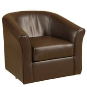 Serta Upholstery Swivel Tub Arm Chair; San Marino Chocolate