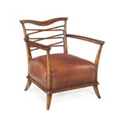 John Richard Caramel Leather Leon Arm Chair