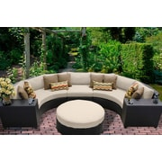 TK Classics Barbados 6 Piece Seating Group with Cushion; Beige
