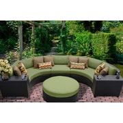 TK Classics Barbados 6 Piece Seating Group with Cushion; Cilantro