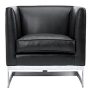 Sunpan Modern Club Soho Arm Chair; Black Nobility