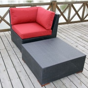 Bellini Pasadina 2 Piece Deep Seating Group with cushions; Red