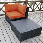 Bellini Pasadina 2 Piece Deep Seating Group with cushions; Orange