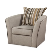 Serta Upholstery Swivel Arm Chair; Olivia Camel / Olivia Pecan-Contrast Welt Only