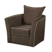Serta Upholstery Swivel Arm Chair; Olivia Pecan / Olivia Camel-Contrast Welt Only