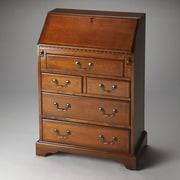 Butler Danforth Secretary Desk; Olive Ash Burl