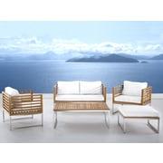 Beliani Bermuda Luxury 5 Piece Deep Seating Group