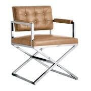 Sunpan Modern Club Equinox Arm Chair; Peanut