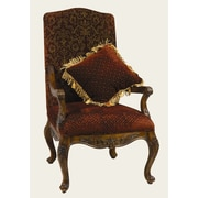 AA Importing Arm Chair with Matching Pillow in Medium Brown