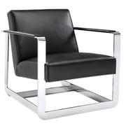 Sunpan Modern Club Clevelander Arm Chair; Black Nobility