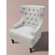 MOTI Furniture Occassional Wingback Chair; Bark