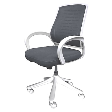 Comfort Products Iona Gray Mid-Back Mesh Office Chair, Adjustable Arm, Gray