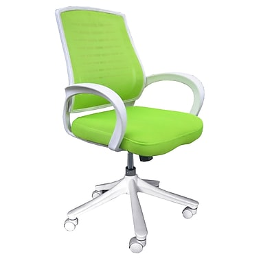 Comfort Products Iona Green Mid-Back Mesh Office Chair, Adjustable Arm, Apple Green