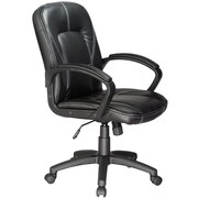 Comfort Faux-Leather Massage Chair, Fixed Arms, Black