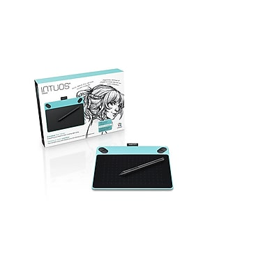 Tablette à stylet créative Intuos Draw, petit format, bleu menthe