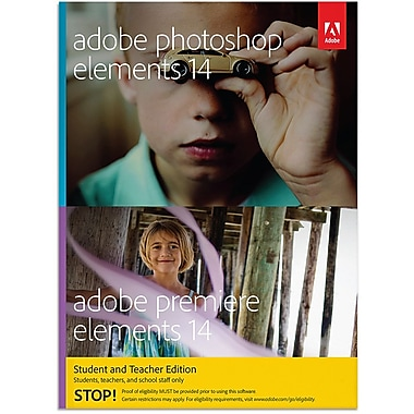 Adobe Photoshop Elements 14 and Premiere Elements 14 for Windows and Mac Student Teacher Edition [Download]