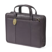 Claire Chase Small File Leather Laptop Briefcase; Caf