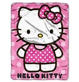 Northwest Co. Entertainment Hello Kitty Dot Throw