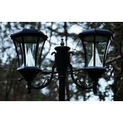 Gama Sonic Victorian Solar LED 90'' Post Light; Black