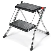 Polder 2-Step Steel Mini Step Stool with 225 lb. Load Capacity
