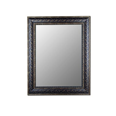 Hitchcock Butterfield Company Bordeaux Bronze Gold Scroll Wall Mirror; 51'' H x 41'' W