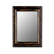 Hitchcock Butterfield Company Antique Copper Black Framed Wall Mirror; 42'' H x 54'' W