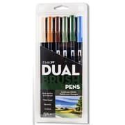 American Tombow Dual Brush Landscape Colors Pen Set (Set of 6)