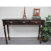 D-Art Collection Mahogany Console Table