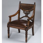 AA Importing Leather Arm Chair