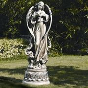 Roman, Inc. Garden Angel with Dove Figurine