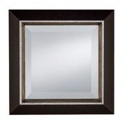 Prinz Stefano Mirror with Styrene Border Picture Frame; Shiny Silver